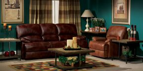 Flexsteel Dylan Three Seat Motion Sofa 1127-630, Rocking Recliner 1127-510