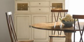 Gat Creek Taylor Table, Addison Chairs and Chase Cupboard