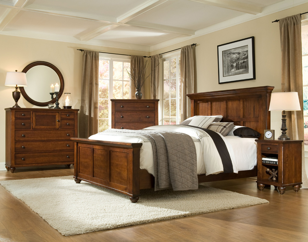... Durham Furniture Hudson Falls Collection   Panel Bed, Antique Rye  Finish ...