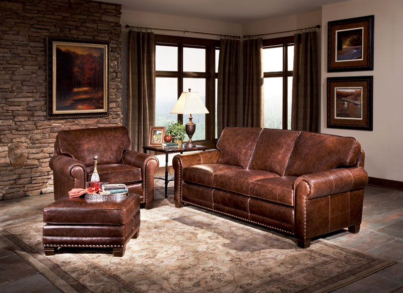 Sofa Smith Brothers Leather Collection 393
