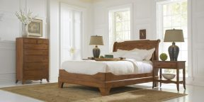 Nichols & Stone Virginia Sleigh Bed, Virginia Tall Chest and Virginia One Drawer Night Stand
