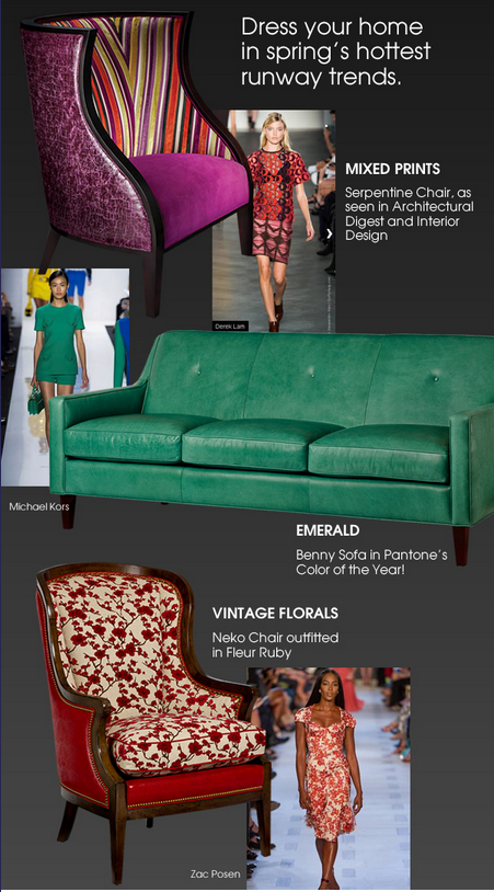 Dress your home in spring's hottest runway trends