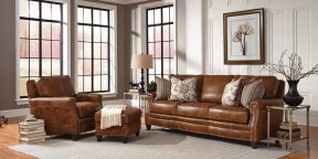 Smith Brother 231-leather-withpillows