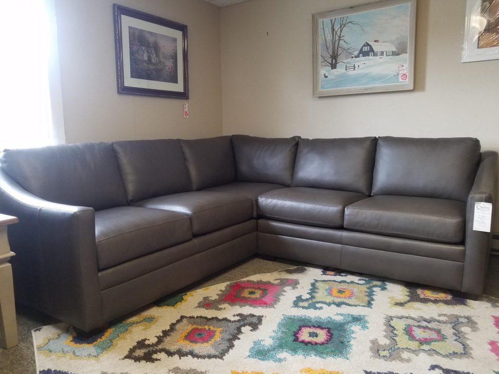 Leather Sectional By Craftmaster